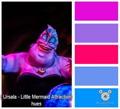 Disney Park Photography - Photo: Ursala -Under the Sea Adventure - Color Palette