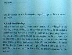 """""""Reilusionarse"""" de Luis Galindo. Compartir mis palabras....#Sueños#pasiones#ilusiónes."""