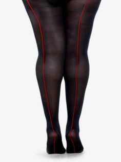 Opaque with Back Seam Tights