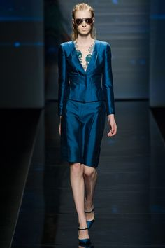 Albert Ferretti RTW Spring 2013- The power suit with a refreshing color and twist.