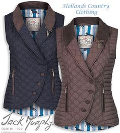 jack murphy linda double breastedd wuilted gilet Winter Wear, Sweater Vests, Riding Jacket, Horse Riding Clothes, Country Fashion, Beautiful Outfits, Equestrian Style, Blazers, Hijab Fashion