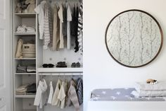 This baby closet is looking pretty stylish to us!
