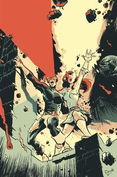 Cyclops & Jean Grey Uncanny X-Men cover homage by Fabio Moon Comic Book Characters, Comic Character, Comic Books Art, Comic Art, Book Art, Comic Pics, X Men, Marvel Comics, Marvel Art