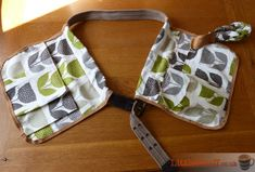 DIY Garden utility belt made from Rayna Apple fabric from Hillarys