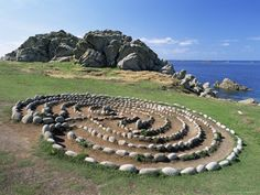 Troy Town Troy Town maze St Agnes Isles of Scilly United Kingdom Europe Labyrinth Garden, Labyrinth Maze, Walking Meditation, Meditation Garden, Parks, St Agnes, Crop Circles, Famous Places, United Kingdom