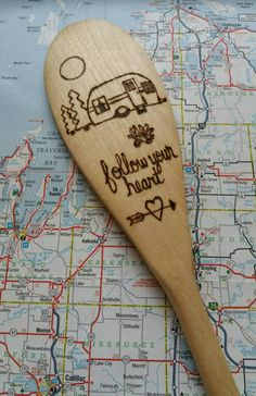 For the love of the great outdoors and camping. Perfect spoon to pack for campfire cooking. Great gift for the camping lover! 14 food safe wooden kitchen spoon. Teal painted handle (please message me if you prefer a different color.) Hand washing is recommended. 2 to 3 weeks on production time.