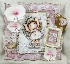 OOAK Magnolia Tilda card..