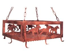 pot rack with horses - Google Search