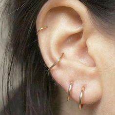 Bijoux Piercing Septum, Piercing Conch, Cool Ear Piercings, Ear Peircings, Smiley Piercing, Body Piercings, Piercing Tattoo, Cartilage Piercings, Tongue Piercings
