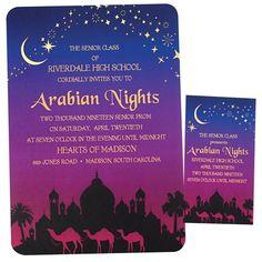 Arabian Night Invitation - New Deko Sites Festa Tema Arabian Nights, Arabian Nights Wedding, Wedding Night, Arabian Theme, Arabian Nights Theme, Arabian Party, Digital Invitations, Party Invitations, Invite