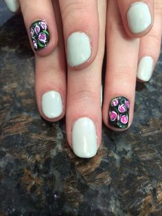 Shellac with rosebuds