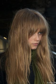 .love shaggy bangs with long hair
