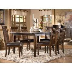 Nebraska Furniture Mart – Ashley Slat Back Dining Room Side Chair