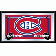 Trademark Commerce NHL1525-MC NHL Montreal Canadiens Framed Team Logo Mirror