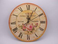 Relojes De Pared Deco Vintage En Madera - $ 179,99 en MercadoLibre