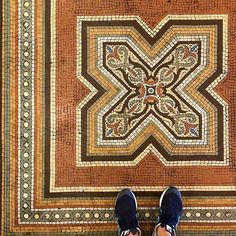One of our favorite places for awesome spotting is A historic gem in the heart of downtown Textile Patterns, Embroidery Patterns, Textiles, Mosaic Art, Mosaic Tiles, Tiles Texture, Landscape Architecture, Mid Century, Flooring