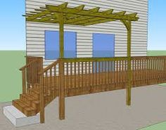 If you have decided to change the visual appearance of your outdoor areas and make it inviting, we can help you. Outdoor Privacy, Outdoor Areas, Outdoor Structures, Deck Plans, Pergola Plans, Sketch Design, Outdoor Projects, Future House, Design Projects