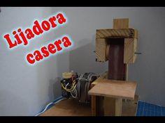 Lijadora casera como se hace español. Con motor de ventilador - YouTube
