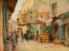 Tyndale, Walter (1855-1943) - An Artist in Egypt 1912, The tomb of Sheykh Abd-El-Deym. #egypt