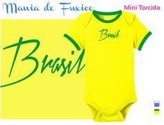 Para ser usado o ano todo! #body #kids #bebe #roupinha #bodysuit #camiseta #tshirt #selecaobrasileira #futebol #brasil #brazuca #fuleco #neymar #hexa #hexabrasil #campeao #championship #copadomundo #worldcup #footbal #fifa