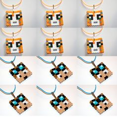 Items similar to Twelve Stampylonghead Stampylongnose (Stampy Cat) and Dan TDM Inspired Necklaces! Fun for a gift or party favors on Etsy Minecraft Stampy, Minecraft Perler, Minecraft Stuff, Minecraft Crafts, Minecraft Skins, Minecraft Buildings, Minecraft Birthday Party, 8th Birthday, Peler Beads