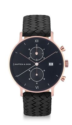 "Chronograph ""All Black Woven"" 