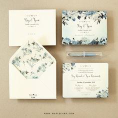 Foto undangan pernikahan oleh Maple Card
