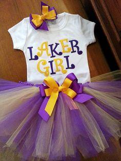 LSU / L.A. Lakers Inspired Tutu by GrannieTutu on Etsy, $30.00