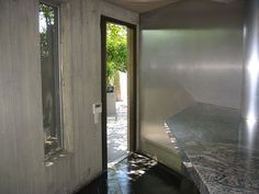 kitchen door - Elrod House - John Lautner