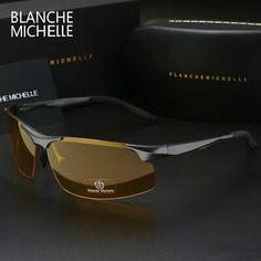 73e246d7b 2018 óculos de sol homens Alumínio E Magnésio Polarizado esportes direção  Visão Noturna Oculos De Sol