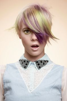 Francis Kok, creation for GOLDWELL Color Zoom. Very cute cut. Very possible.