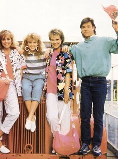 Jane, Charlene, Daphne & Mike  #Neighbours #NeighboursMagazine #OldSkoolNeighbours #KylieMinogue