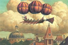 Imaginary Flying Machines by Studio Ghibli First Animation, Computer Animation, Pig Character, Girls Anime, Ghibli Movies, Hayao Miyazaki, Anime Scenery, Cool Cartoons, Totoro