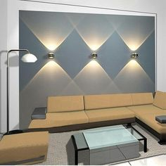 Inject a dose of modern-inspired style to your home with these LED wall lights. Perfect for updating any interior, available in two light temperatures o match the color scheme of your home or office.