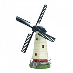 Solar Powered Windmill Lighthouse   BidderFace