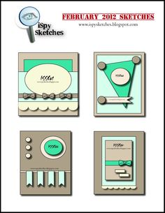 iSpy Sketches: Past Sketches Scrapbook Patterns, Scrapbook Sketches, Card Sketches, Scrapbook Cards, Scrapbook Layouts, Project Life, Make Your Own Card, Spellbinders Cards, Cricut Cards