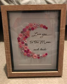 Finished my Nannys Mothers Day present  pretty happy with this! #mothersday #gift #craft #homemade #love #nanny #mum #guesshowmuchiloveyou #loveyoutothemoonandback