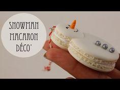 Déco' Sapin: Bonhomme De Neige Macaron (pâte polymère) - YouTube - madame patachou