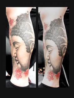 Leg Japanese Buddha Tattoo by Orient Soul