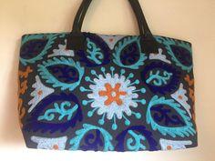 Suzani Handbag - Blossom Saffron