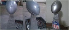 I MADE THIS.... Wire, Duck tape, and a dollar football from dollar store! DIY fantasy football trophy.