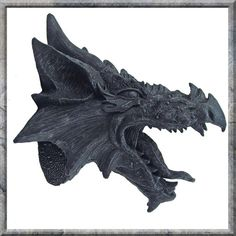 Fantasy Gothic Nemesis Now Collectable Gift - The Dragons Fury Head Plaque