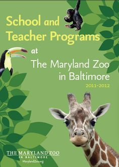 School and Teacher Programs - Maryland Zoo in Baltimore - for Field Trips