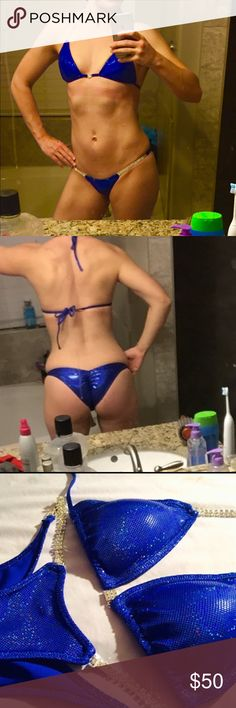 ☀️T.G.I.F summer sale☀️NPC bikini Competition suit NWOT-- I purchased this for my upcoming show then decided to have a chest enhancement. So it no longer fits. It's a moderate bottom and a small on top. I would say it fits A-B cup--- sale 2/18 until 10pm Swim Bikinis