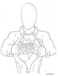 Students draw in facial features of their dad and write why they think he's a superhero on the back. FREE