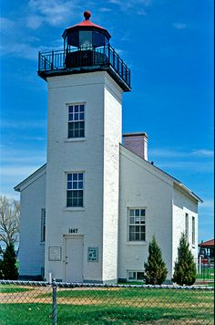 Lighthouse of the Day – Sand Point, MI Sand Point Lighthouse, located in Ludington Park in Escanaba, Michigan, was built in 1867 and first lit on May It served continuously until. Covered Bridges, Lake Michigan, Great Lakes, Lighthouses, All Over The World, Florida, Mansions, House Styles, Usa