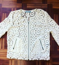 #Bagatelle Lace Lambskin #Jacket (Sheer) | Size M |Retail $295 | Our Price Only $118!! Call for more info (781)449-2500. #FreeShipping #ShopConsignment  #ClosetExchangeNeedham #ShopLocal