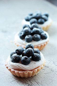 Blueberry tarts. #fruit porn #dessert porn