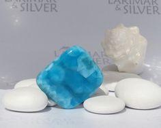 Larimar stone Atlantis Secret 2  rounded by LarimarAndSilver