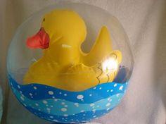 Ducky Beach Ball Rubber Ducky Birthday, Quack Quack, Beach Ball, Elmo, Ducks, Kid Stuff, Balls, Parties, Party Ideas